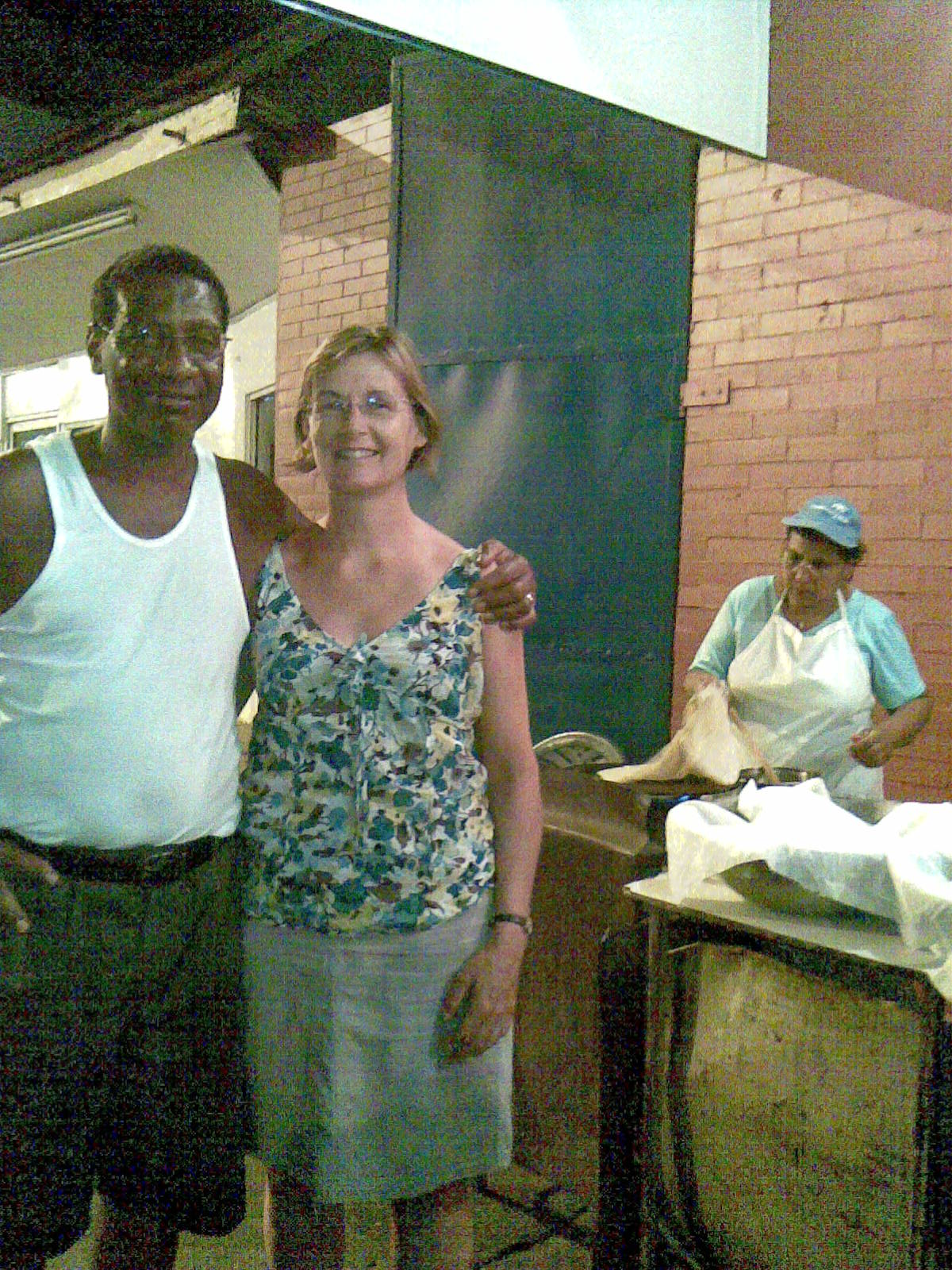 Getting hot roti in St. James
